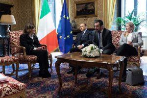 Roma - La presidente del senato Casellati con il centrodestra