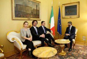 Roma - M5s incontra il presidente della camera Fico