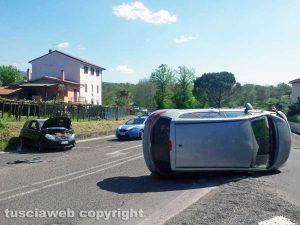 Viterbo - Incidente in strada Ponte Sodo