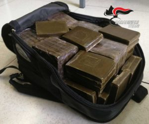 Terni - I 10 kg di hashish sequestrati