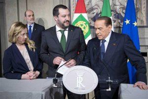 Quirinale - Consultazioni - Meloni, Salvini e Berlusconi