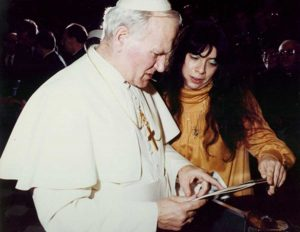 Papa Wojtyla e Daniela Sabatini