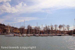 Il porto di Capodimonte nel lago di Bolsena