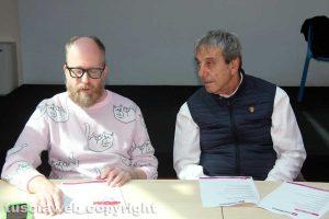 Viterbo - La conferenza di presentazione di Medioera - Massimiliano Capo e Antonio Delli Iaconi