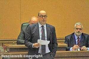 Consiglio regionale - Il presidente Nicola Zingaretti