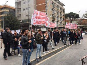La protesta dei lavoratori del 118