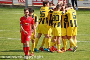 Sport - Calcio - Viterbese - Elio Calderini dopo il gol