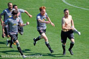 Sport - Calcio - Alessandria - L'esultanza dei grigi