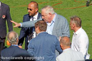 Sport - Calcio - Viterbese - Piero Camilli a fine match