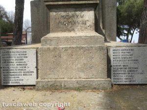 Il monumento ai caduti di Soriano nel Cimino