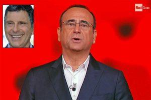 Carlo Conti - Nel riquadro: Fabrizio Frizzi