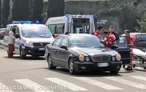 Viterbo - L'incidente a piazzale Gramsci