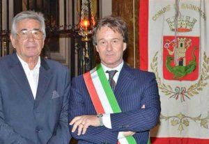 Bagnoregio - Il sindaco Bigiotti con l'assessore Luigi Gentili