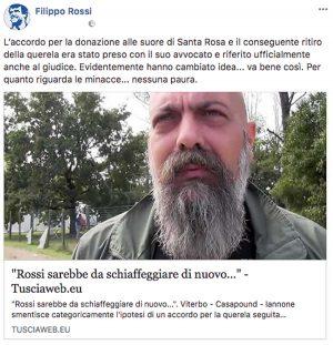 Schiaffone futurista - Il post Facebook di Filippo Rossi