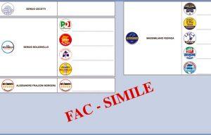 Friuli Venezia Giulia - Elezioni regionali -Fac simile della scheda
