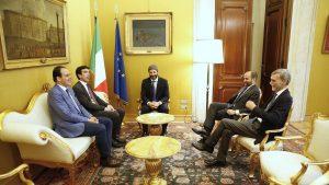 Roma - Il Pd a colloquio con il presidente della camera Fico