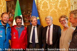Roma - Thomas Burger, Walter Mair e Thomas Mohr ricevuti da Paolo Gentiloni