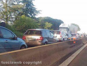 Un incidente sulla superstrada