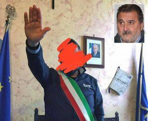 Tarquinia - Saluto fascista in comune - Nel riquadro Enrico Panunzi
