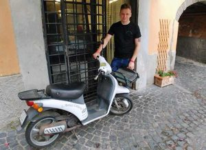 Viterbo - Il motorino ritrovato dell'Antica Latteria