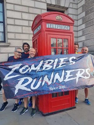Gli Zombies runners a Londra