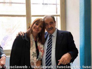 Il segretario nazionale della Uil scuola Pino Turi col segretario regionale Silvia Somigli