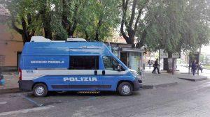 Viale Trento - Il presidio mobile della polizia