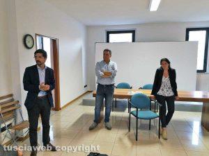 Giulio Marini inaugura la sede del Comitato elettorale, con lui Sabatini e Sberna