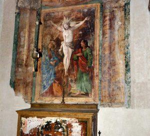 Vignanello - L'altare del crocefisso