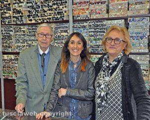 Francesco Ceccarelli con moglie e figlia