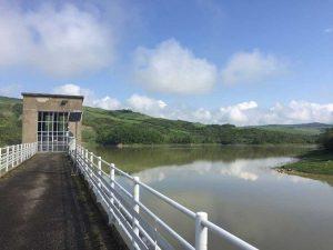 Le ispezioni alla diga dell'Elvella