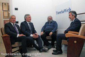 Viterbo - Antonio Tajani nella sede di Tusciaweb