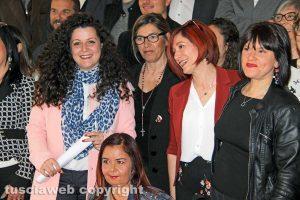 Chiara Frontini e i candidati consiglieri di Viterbo Venti Venti e Viterbo Cambia