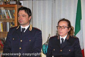 Il capo della squadra volante Riccardo Bartoli e dell'ufficio di gabinetto Tiziana Cencioni