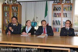 Viterbo - Questura - Riccardo Bartoli, Lorenzo Suraci e Tiziana Cencioni