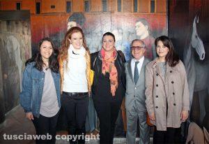 Bagnaia - Il murales - Foto di gruppo