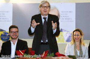 Antonino Oriente, Vittorio Sgarbi e Claudia Mercuri