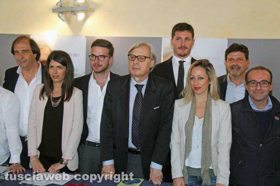 Sutri - Vittorio Sgarbi presenta la sua lista