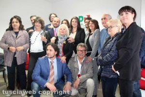 Luisa Ciambella e i candidati nella lista Pd