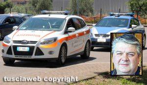 118 e polizia - Nel riquadro: Massimo Gemini