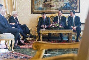 Matteo Salvini (Lega) dal presidente della Repubblica Sergio Mattarella