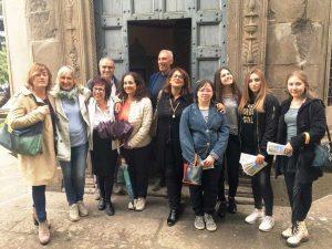 Viterbo - - Chiesa S. M. della Peste - Alcune studentesse e docenti di Paolo savi