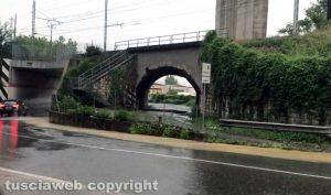 Orte - Si allaga di nuovo il sottopasso della ferrovia