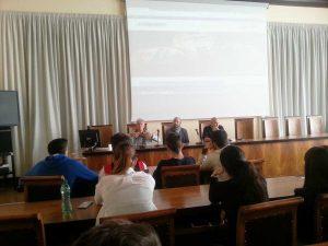 Viterbo - L'incontro studenti-imprenditori sul marketing - Da sinistra Chiodetti, Lupidi e Pagliara