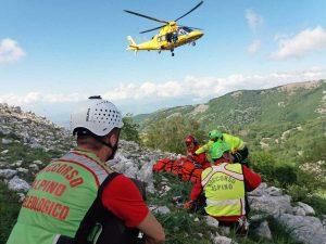 Latina - Escursionista precipita lungo un pendio dei monti Aurunci - L'intervento del soccorso alpino