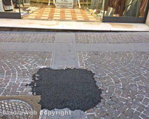 Viterbo - La pavimentazione di Corso Italia