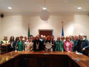 Il sindaco Lina Novelli con gli amministrativi del comune di Canino