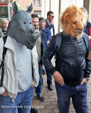 La protesta del Comitato pendolari Orte