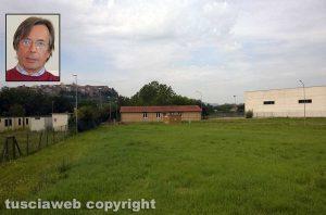 Orte - L'area per il 118 - Nel riquadro il sindaco Angelo Giuliani