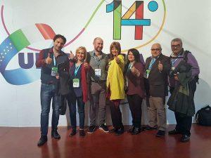 Roma - Silvia Somigli assieme ai delegati di Viterbo al congresso nazionale
